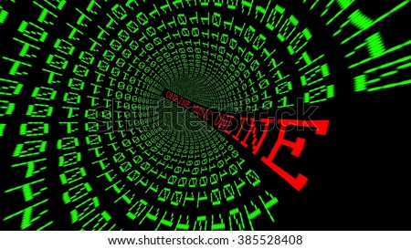 Online data tunnel - stock photo