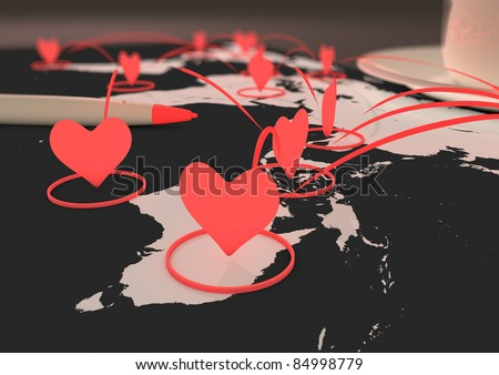 Online dating - stock photo