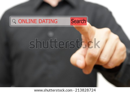 online dating in search bar - stock photo