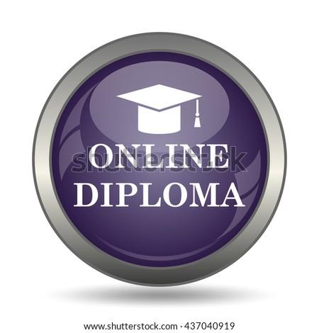 online diploma icon internet button on stock illustration  online diploma icon internet button on white background