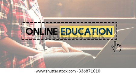 Online Education E-learning Knowledge Technology Concept