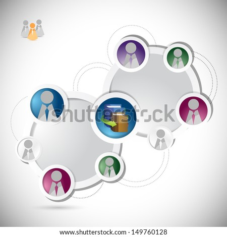 online education student network concept illustration design over a white background
