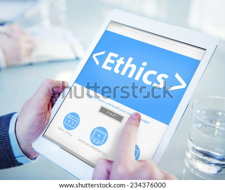 Online Ethics Religion Morality Office Working Concept - stock photo