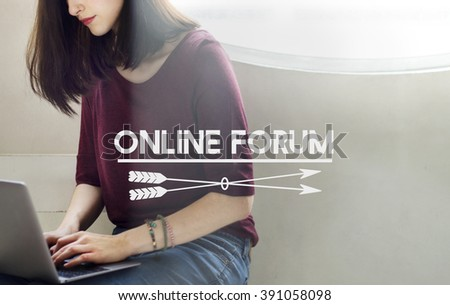 Online Forum COmmunity Sharing Technology Concept