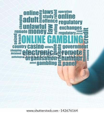 online gambling modern word cloud - stock photo