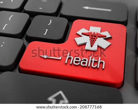 Online health or medicine concept. - stock photo