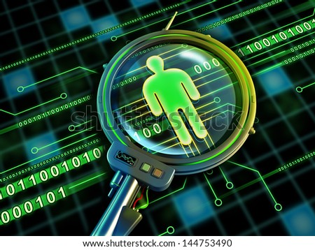 Online identity. Digital illustration. - stock photo