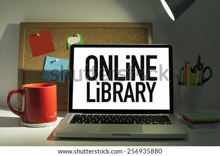 Online Library - stock photo