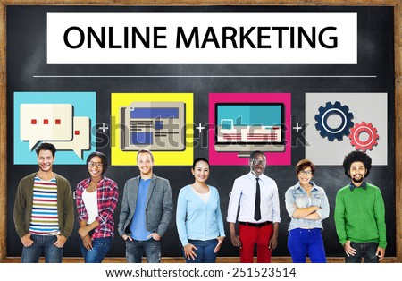 Online Marketing Business Content Strategy Target Concept - stock photo