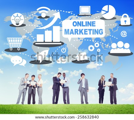 Online Marketing Commerce Global Business Strategy Concept