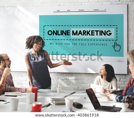 Online Marketing Homepage Website Digital Concept - stock photo