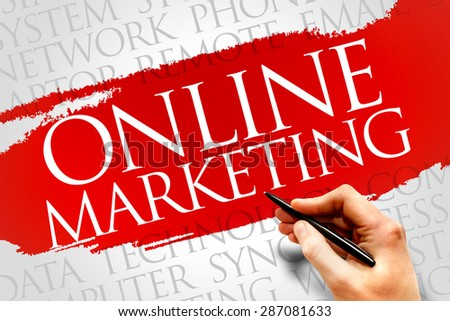 Online marketing word cloud concept