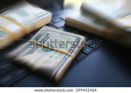 Online Money stock Photo - stock photo
