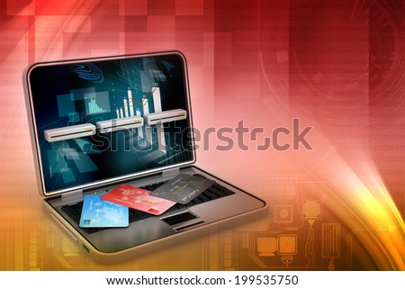 Online payments concept - stock photo