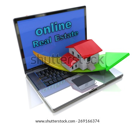online Real Estate  - stock photo