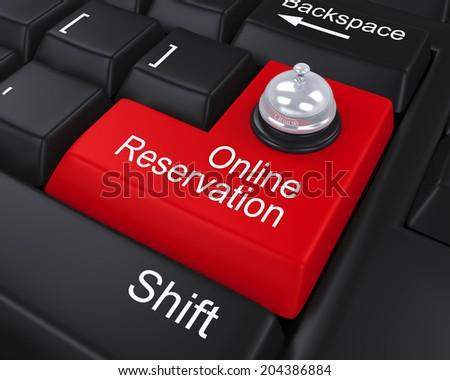 Online Reservation Enter Key - stock photo