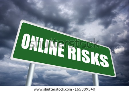 Online risk sign - stock photo
