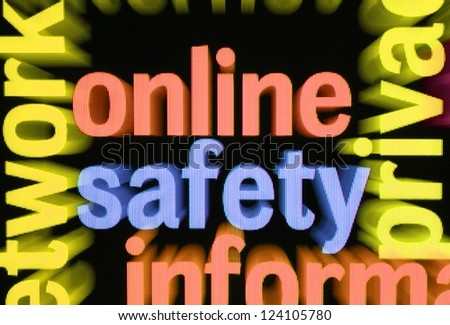 Online safety - stock photo