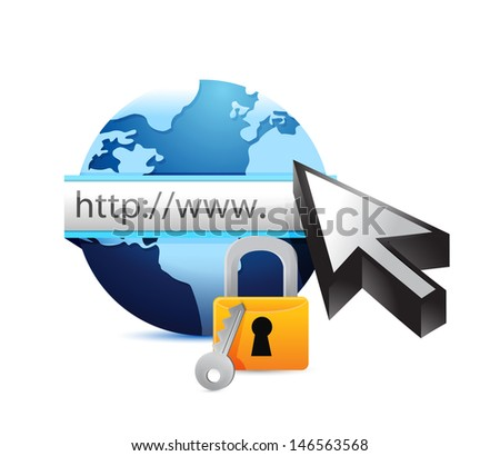 online security concept illustration design over white - stock photo