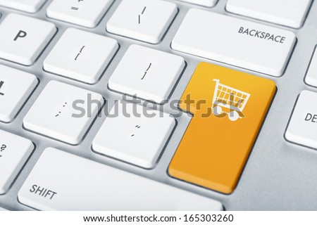 Online shopping cart proceed concept - stock photo
