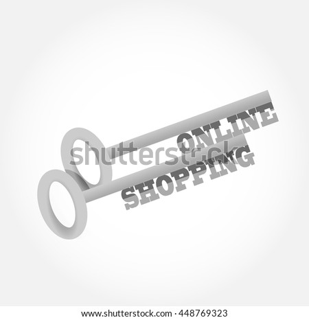 online shopping key concept illustration design graphic