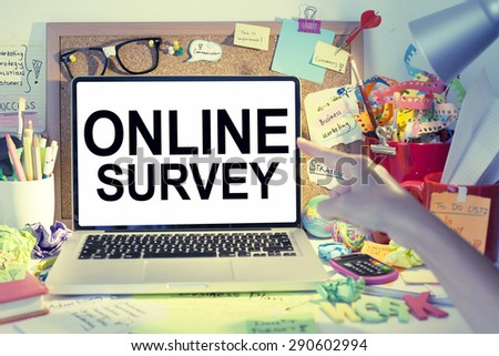 Online Survey - stock photo