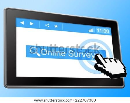 Online Survey Meaning World Wide Web And Website - stock photo