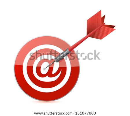 online target illustration design over a white background