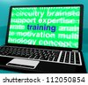 Online Training Computer Message Showing Web Learning - stock photo