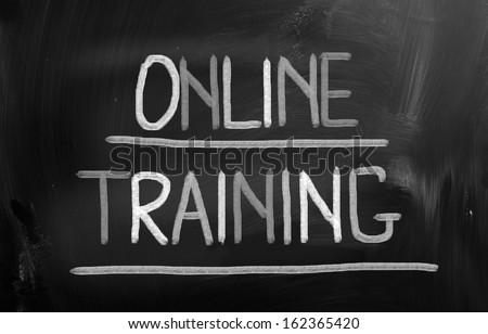 Online Training Concept - stock photo