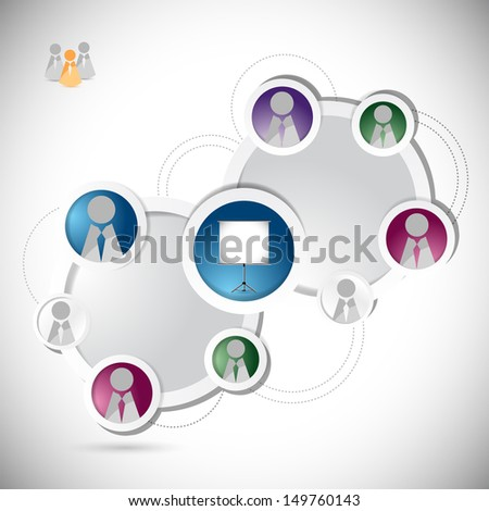 online training student network concept illustration design over a white background
