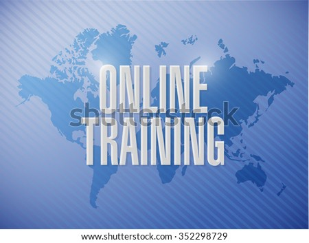 Online training world map sign concept stock illustration 352298729 online training world map sign concept illustration design graphic gumiabroncs Images