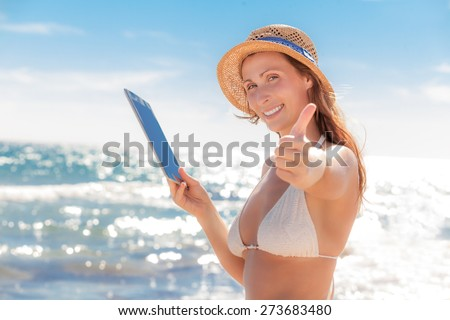 online travel wherever you are - stock photo