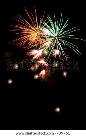 Only Fireworks with black background