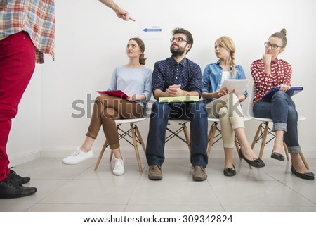 Only one person can take this job - stock photo