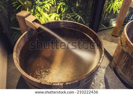 Onsen Series Wooden Bathtub Stock Photo 210222436 Shutterstock