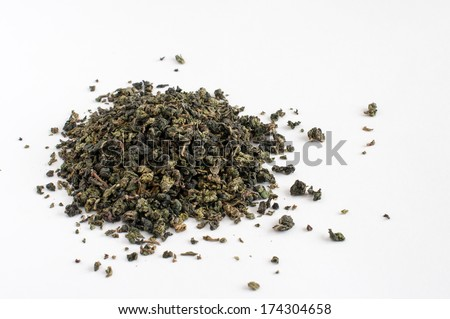Oolong (green) chinese tea  leaves