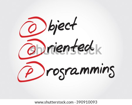 OOP Object Oriented Programming, acronym business concept