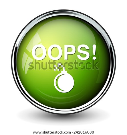 Oops button - stock photo