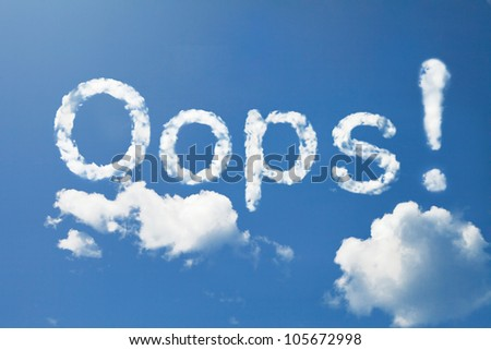 oops! cloud - stock photo