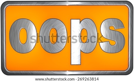 oops Concept - stock photo
