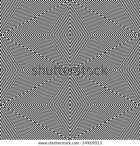 Op Art Only Symmetrical Shapes 06 Seamless - stock photo