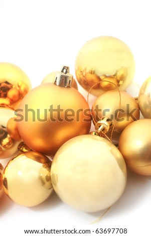 Opaque silver and golden christmas balls