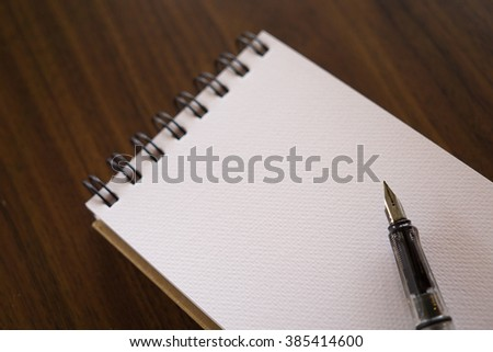 Open a blank white notebook