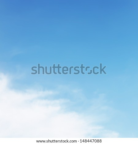 Open air white cloud on sky - stock photo