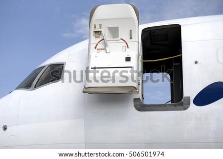 Open aircraft door & Aircraft Door Stock Images Royalty-Free Images \u0026 Vectors ... Pezcame.Com