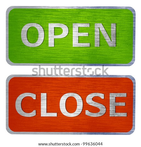 Open and close door sign