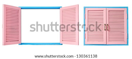 Detailed Window Set Isolated Vector Illustration Stock Vector