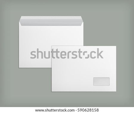 template with transparent window mockup post envelope c4 size