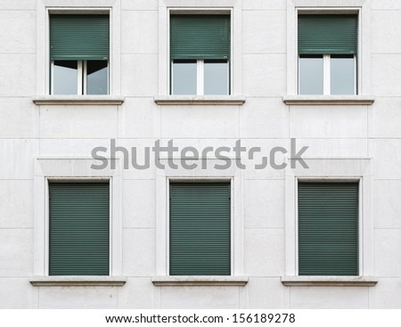 Open and Closed Windows - stock photo
